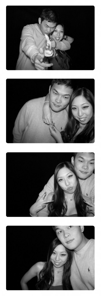 holiday party photo booth photos