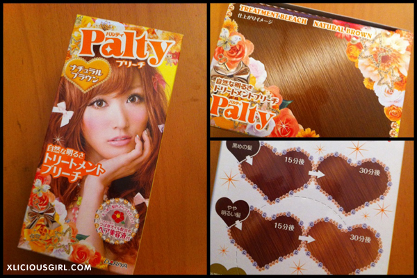 palty natural brown bleach hair dye