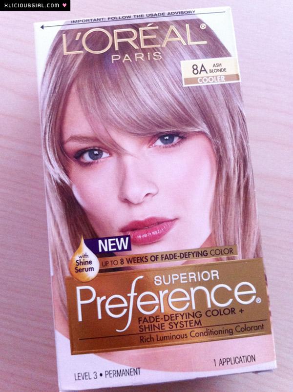 Loreal Ash Blonde Box Front Xlicious Girl Blog