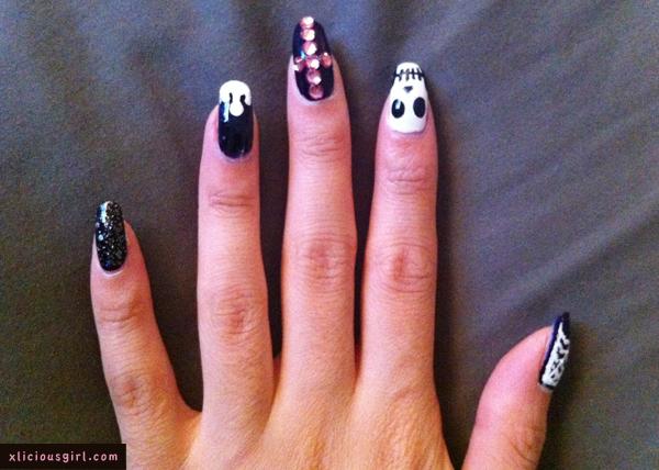 My Halloween Nail Design Lol Xlicious Girl Blog
