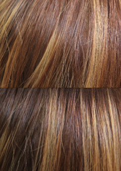 hair in different lighting