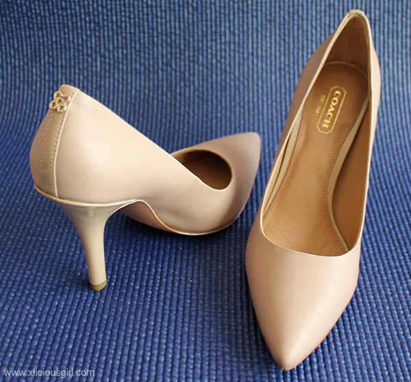 coach matte nude pumps