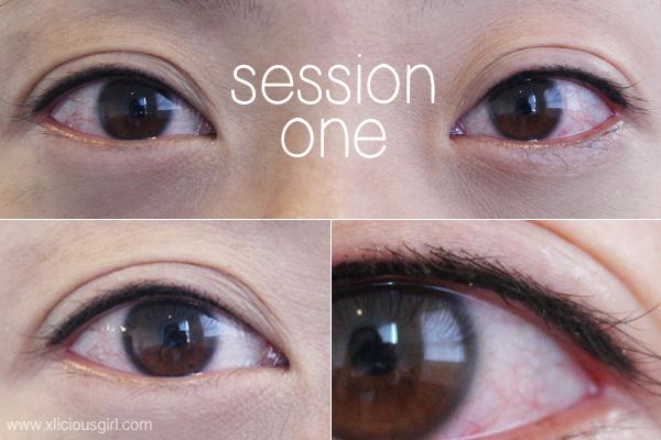 Semi permanent eyeliner by sherri makeup xlicious girl for Tattooed eyeliner brand