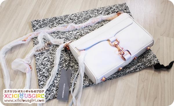 rebecca minkoff white rose gold hardware mini mac purse