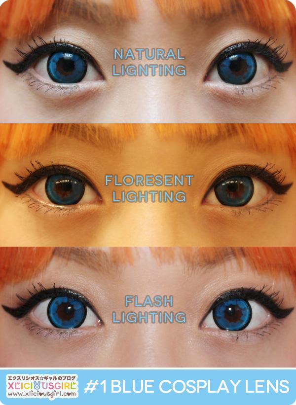vassen color cloud nine blue circle lens cosplay