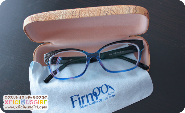 firmoo black and blue cat eyed glasses
