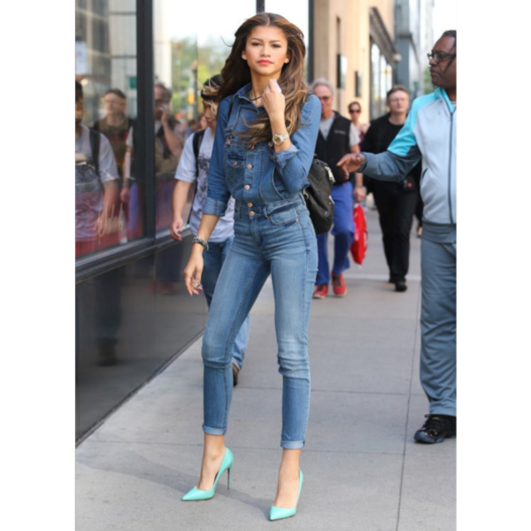 zendaya fashion 2015 all denim
