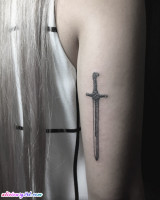 Game of Thrones 'Oathkeeper' Sword Tattoo